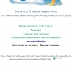 PJ Library Shabbat Circle- flyer for Nov. 3
