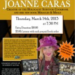 Joanne Caras at Temple Sinai - March 14