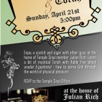 Cigar, Scotch & Torah - April 21