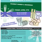 Freilach Friday Dinner & Drumming - April 5