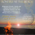 Lag B&#039;Omer Bonfire at the Beach - April 28