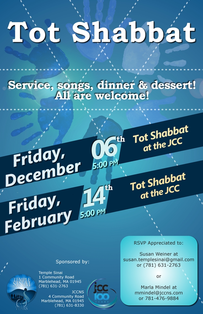Tot Shabbat at the JCC - Dec. 6