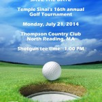 SAVE THE DATE! Golf Tournament - Monday, July 21st