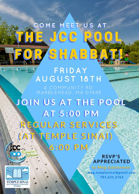 Shabbat at the pool 2017