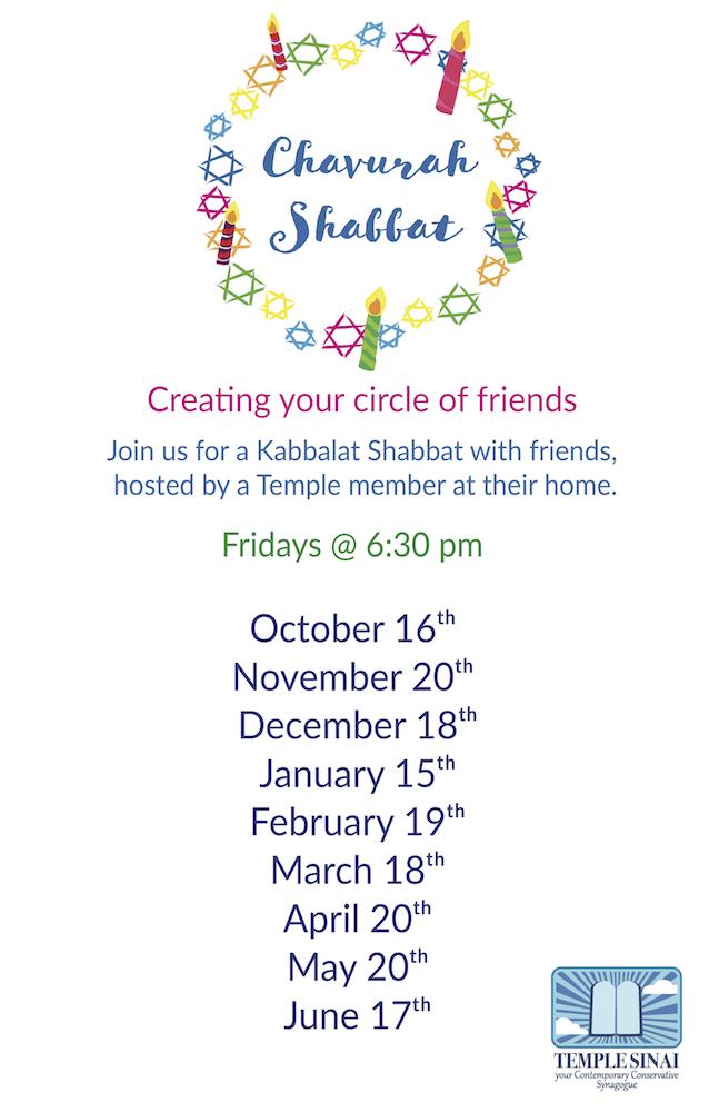 Chavurah Shabbat Schedule