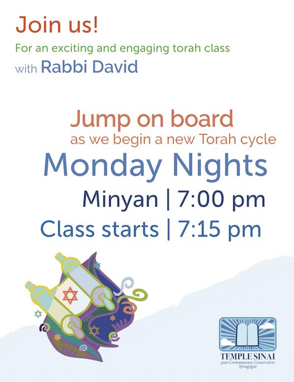 Torah Class with Rabbi David!