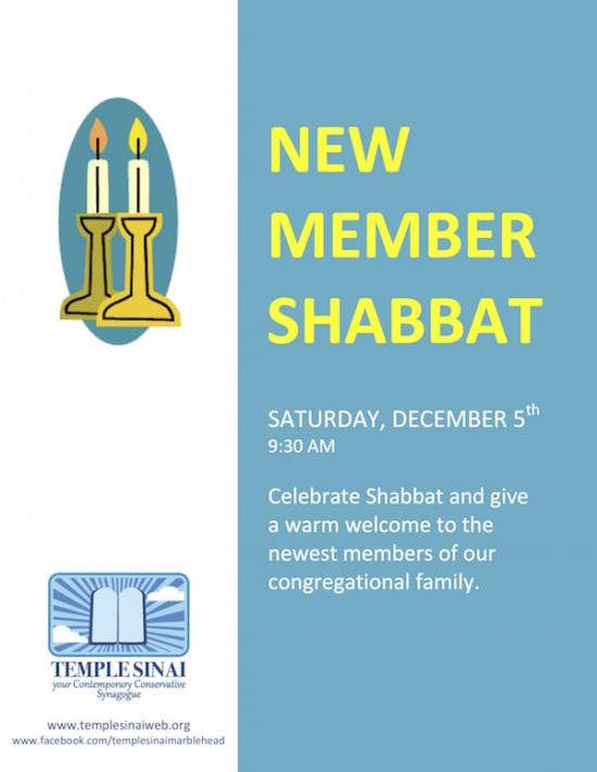 New Member Shabbat!