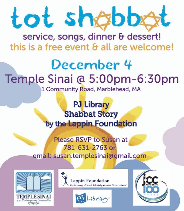 Tot Shabbat at Temple Sinai!