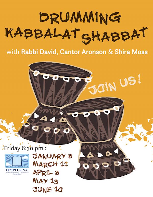 Drumming Kabbalat Shabbat